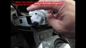 replace bulbs on heat ac panel 2012 toyota rav4