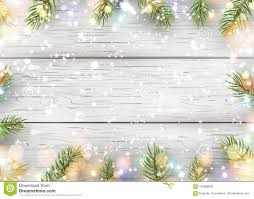 Download Christmas White Wooden Background With Holiday Fir Tree Branches Pine Cone Light Garland