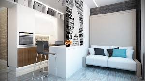 Awesome Simple Super Beautiful Studio Apartment Concepts For A Young Couple Includes Floor Plans