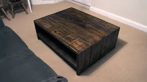 FurnitureEnjoyable Round Grey Reclaimed Wood Low Profile Coffee Table Decor Inspiration For Living Room