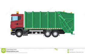 100 Waste Management Garbage Truck For Assembling And Transportation Stock Vector