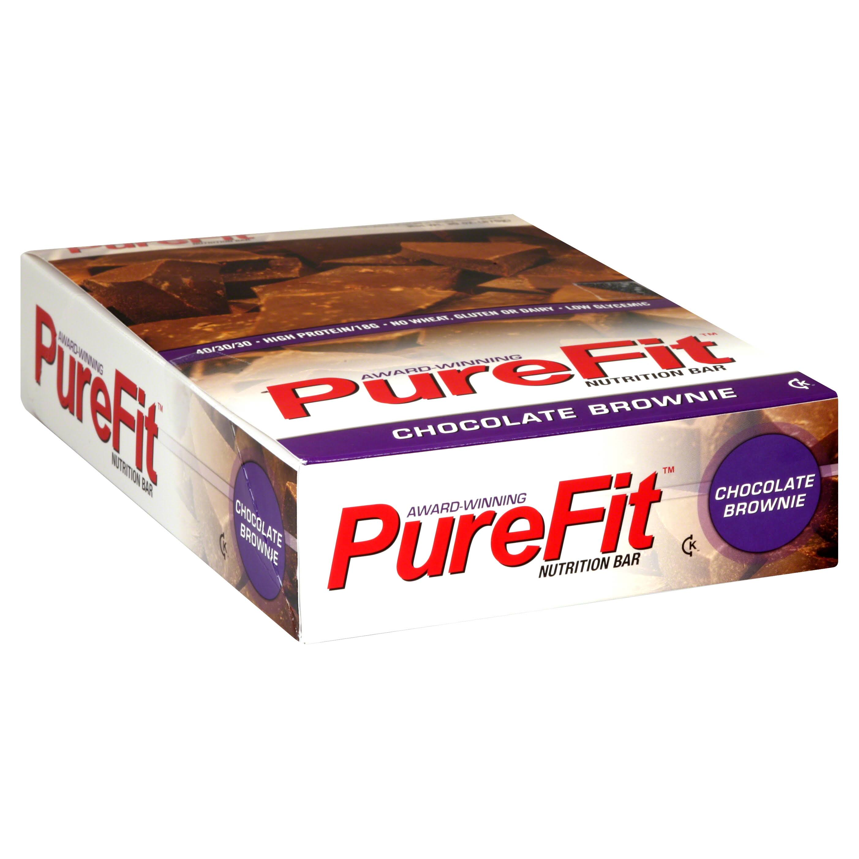 Pure Fit Nutrition Bar, Chocolate Brownie - 15 pack, 2 oz bars