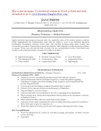 Sample Pharmacy Technician Resume Samples With Examples