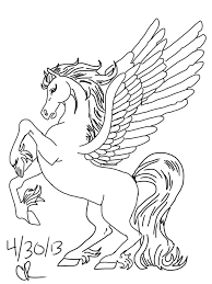 Unicorn With Wings Drawing 18 Coloring Pages