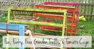 Fun Funky Free Garden Trellis Tomato Cage