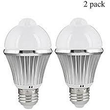 motion sensor led light bulb 5w 450lm e26 110v automatic