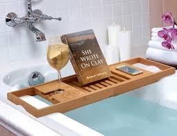 bamboo bathtub caddy from bambüsi by belmint gadget flow