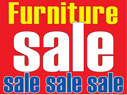 Window Sale Sign Poster Furniture Horizontal