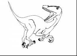 Impressive Jurassic Park Velociraptor Coloring Pages With Page And Dinosaur