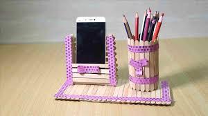 Holder With Ice Cream Sticks Rhcom Hulk Pencil Craft Ideas For Kids Youtuberhyoutubecom Art And