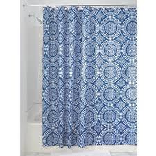 Amazon InterDesign Medallion Fabric Shower Curtain 72 x 72