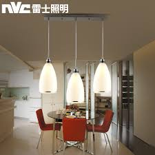 NVC LED Restaurant Lights Modern Minimalist Dining Room Table Lighting Three Meals Chandeliers Round Crystal