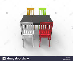 3D Rendering Of A Dinner Table With 4 Colored Chairs Stock Photo ... Lexington 5piece Ding Set With Round Table And 4 Mission Back Chairs How To Refinish A Room Hgtv Vonhaus Rustic Modern Industrial Design Seater Wooden Effect Dinner 5 Piece Fniture Dinner Table Chairs In Good Cdition Price Ruced Forever Rectangle Shape Chair 1 Green Marble Ebay Sponsored Us Home Bedroom Living Room Kids Gaming Wood Centerpieces And Ideas Dimeions Tables Plastic Gumtree Inch Why Small Ding Is Premium Choice Blogbeen Contemporary Co 101681