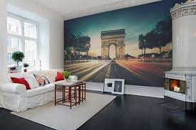 Digital Prints Of Famous Cities Paris Modern Wallpaper For Room Decorating