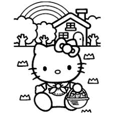 Hello Kitty House Free Printable An Angel Coloring Pages