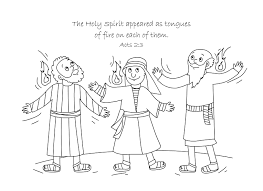 The Holy Spirit Comes Coloring Page