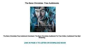 The Bane Chronicles Free Audiobooks