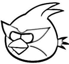 Angry Bird Space Captain Red Attack Coloring Pages