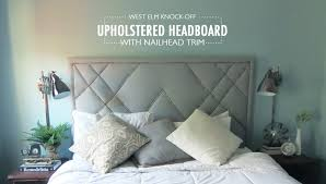 How to Build a West Elm Knock f Upholstered Headboard — Little