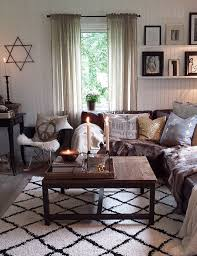 decorating with brown couches