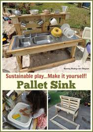 Build A Picnic Table Out Of Pallets by Easy Instructions On Building A Mud Kitchen Out Of Old Pallets