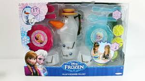 Disney Frozen Bathroom Sets by Frozen Play Doh Olaf Tea Party Set Elsa And Anna Barbie Dolls Play