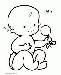Baby Printable Coloring Pages Ipad Coloring Baby Printable