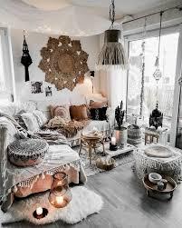 schwarzes und bohemisches weißes wohnzimmer elements 1