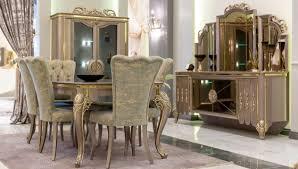 casa padrino luxus barock esszimmer set grün gold grau 1 esstisch 6 esszimmerstühle prunkvolle esszimmermöbel im barockstil luxus qualität