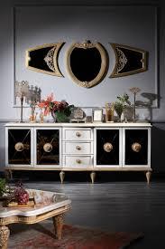 casa padrino luxus barock wohnzimmer set weiß gold barock kommode und 3 wandspiegel barockmöbel