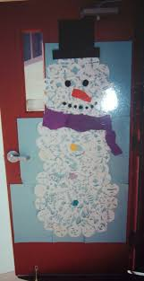 Winter Themed Classroom Door Decorations by Christmas Snowman Classroom Door Decorations