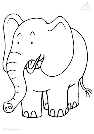 Elegant Coloring Pages Of Elephants 24 For Your Free Colouring With