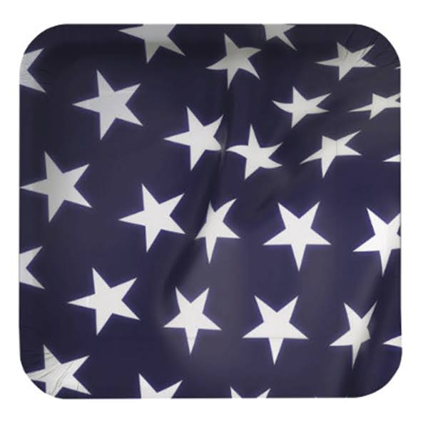 Creative Expressions Flag Celebration Square Paper Dessert Plates 8ct