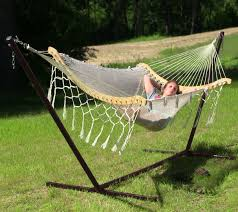Sunnydaze e Person Mayan Hammock with Stand – 15