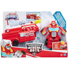 100 Rescue Bots Fire Truck Playskool Transformers Hook And Ladder Heatwave Figure