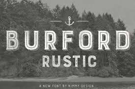Burford Rustic Pro Display Fonts Creative Market