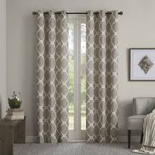 Grommet Top Curtains Jcpenney by Almaden Printed Fret Grommet Top Curtain Panels Jcpenney