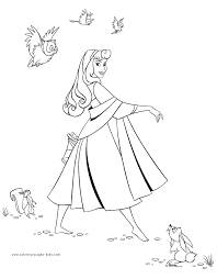 Sleeping Beauty Color Page Disney Coloring Pages Plate Sheetprintable