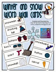 Clip Art By Carrie Teaching First Winter And Snow Word Wall Cards