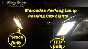 how to install led parking city lights on mercedes e550 w212 led