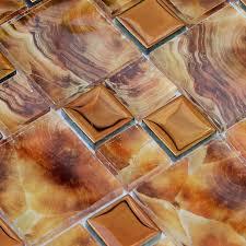 glass tile kitchen wall tiles metal coating tile