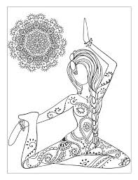 Various Yoga And Meditation Coloring Book For Adults With Poses Mandalas HD Images 2017 2018