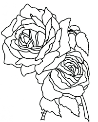 Coloring Pages Roses Blue Flowers Online And Butterflies Page