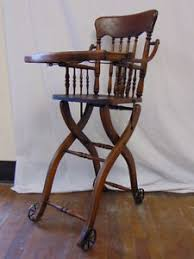 Heywood Wakefield Chairs Antique by Vintage Heywood Wakefield Antique Oak Wood Childs Baby High Chair