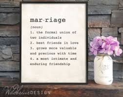 Printable Wall Art Marriage Dictionary Definition Wedding Anniversary Bridal Shower Gift Newlyweds