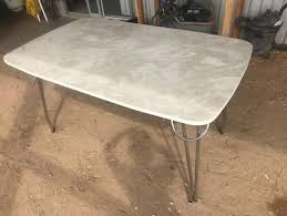 RETRO MARBLE LAMINEX CHROME DINING KITCHEN TABLE
