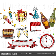 New Year Clipart Illustration by BNP Design Studio