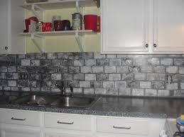 kitchen faux brick wall tiles paver backsplash like tin