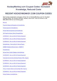 Hockeymonkey.com-coupon-codes By Ben Olsen - Issuu Warrior Rgt2 Review Hockey Hq Monkey Bath And Body Works Coupon Codes Hocmonkey Coupon Promo Code 2018 Mfs Saving Money Was Never This Easy Hocmonkey Hocmonkey Photos Videos Comments Com Nike Factory Sale Coupons Sports Johnsonville Meatballs Monkey Coupons Home Facebook Leaner Living Code Capzasin Hp
