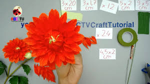 How To Make Dahlia Paper Flower From Crepe